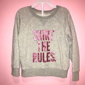 Kate Spade Grey Pink Sweatshirt Skirt the Rules 4